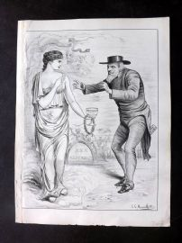 E. C. Mountfort - Dart 1880's Political Cartoon. Mayoralty wity Toleration